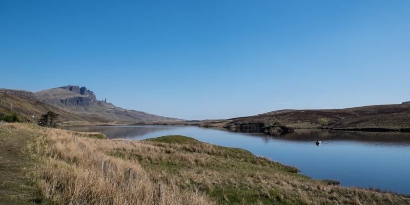 Lake and the Old Man of Storr in the background