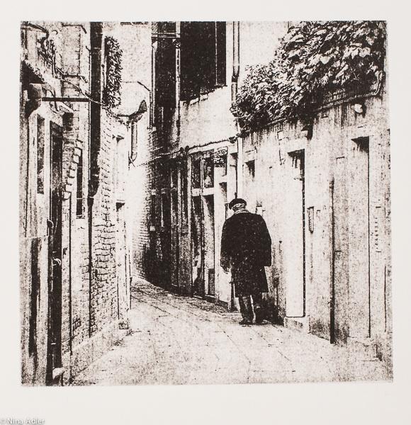 Venise - 9, Un homme dans la rue