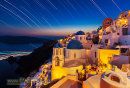 Long exposure star trails on Santorini
