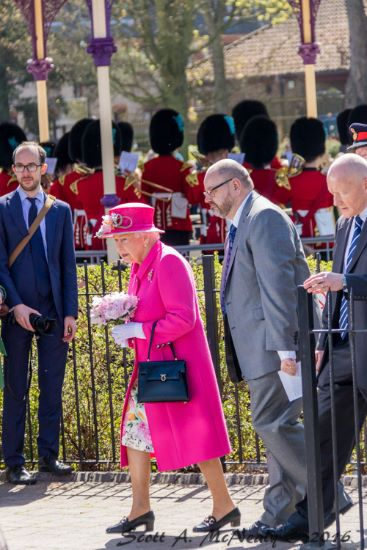HRH Queen Elizabeth II officially opens bandstand at Alexandra Gardens, Windsor