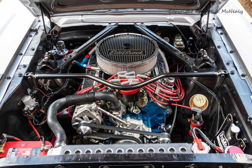 1966 Mustang 302-engine bay