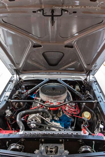 1966 Mustang 302-engine bay
