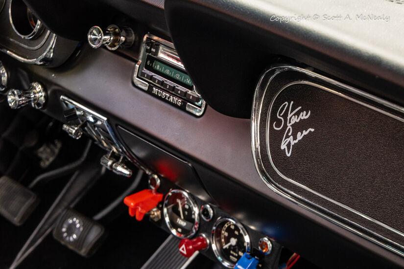 1966 Mustang 302 Steve Green signature and dash