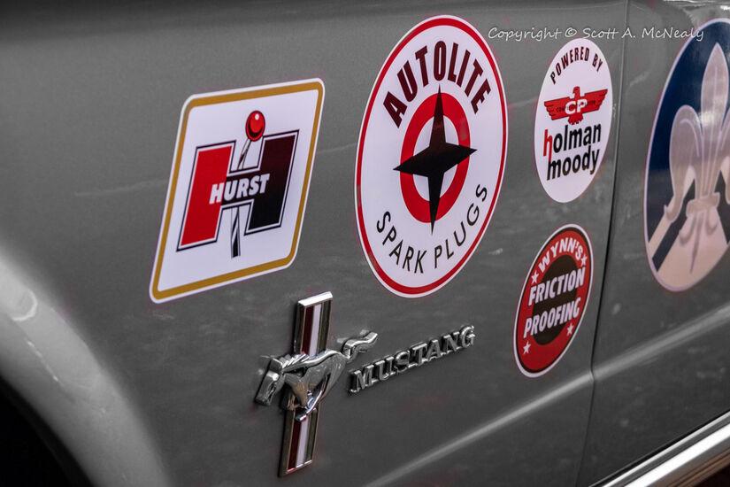 1966 Mustang 302-Sponsor Stickers detail