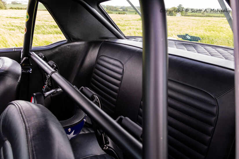 1966 Mustang 302 interior roll cage