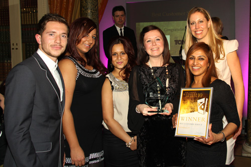 Best Customer Service Toni and Guy at Chimes Chimes Retailer Award Ceremony 2011