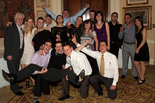Chimes Team at The Chimes Retailer Award Ceremony at Stoke Park 2011