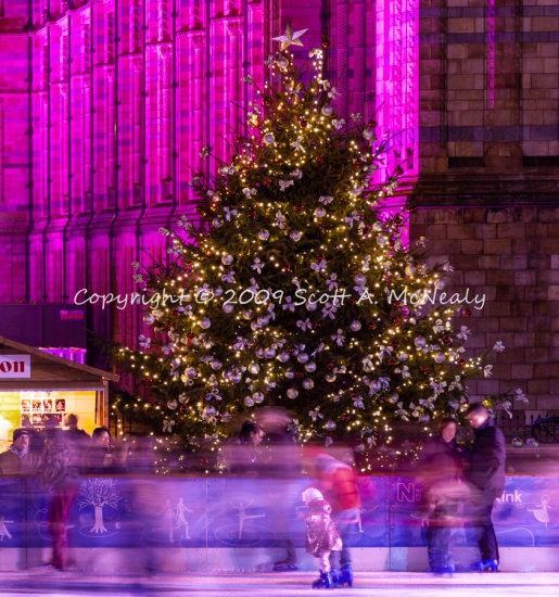 Ice skating at the Natural History Museum, London 2009