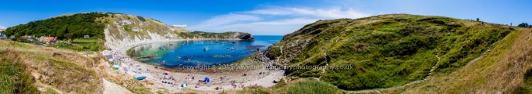 Lulworth Cove on the Jurassic Coast World Heritage Site in Dorset
