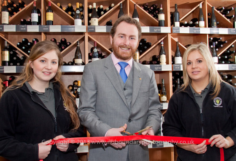 Majestic Wine Gerrards Cross-Red Ribbon cutting with Fine Wine