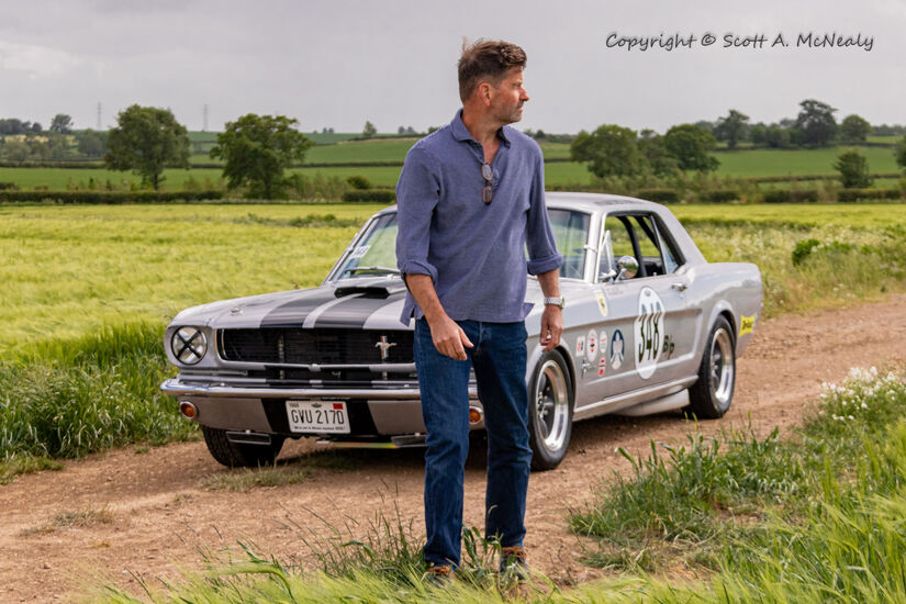 Owner Paul Levitt and 1966 Mustang 302
