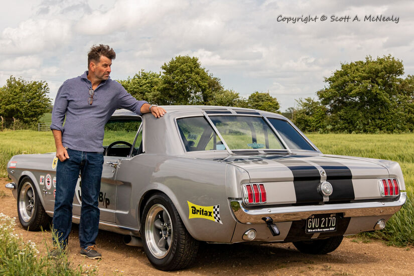 Owner Paul Levitt and 1966 Mustang 302-9628