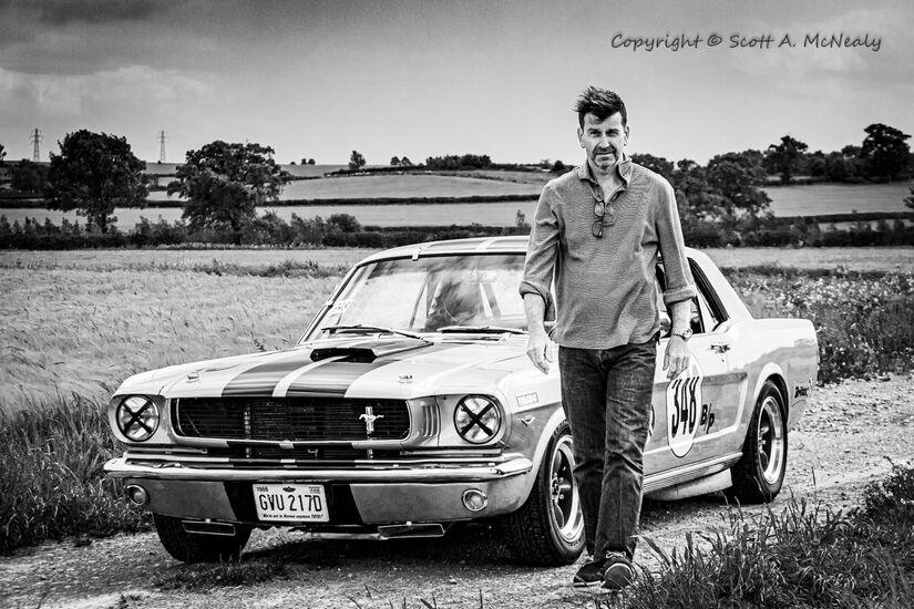 Owner Paul Levitt and 1966 Mustang 302-BW