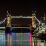 Tower Bridge and HMS Belfast night-0046