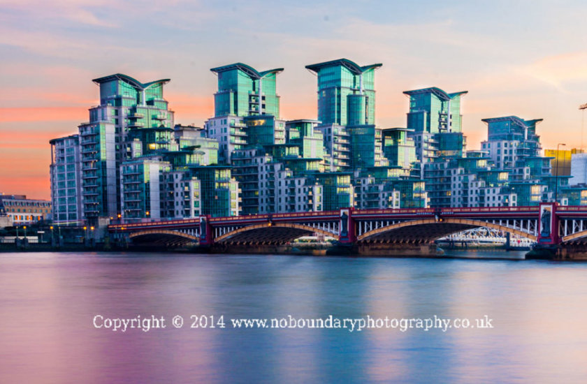Vauxhall Bridge with Bridge House, Fountain House and Ensign House 2014