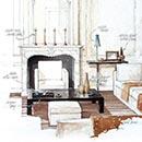classic lounge Illustration