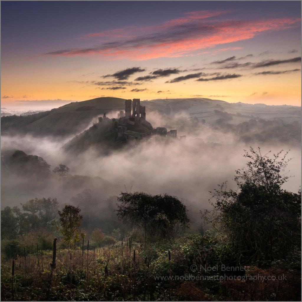 Misty Start at Corfe Castle
