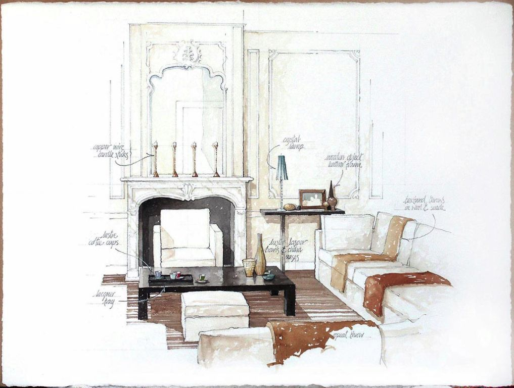 classic lounge Illustration