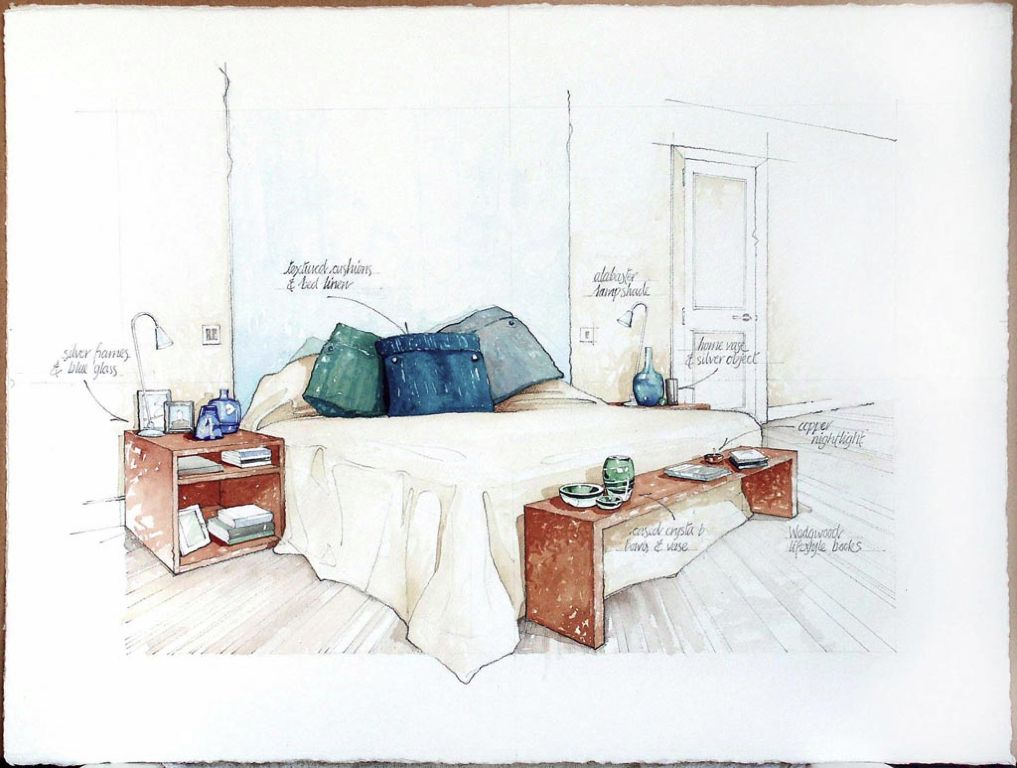 contemp bed Illustration
