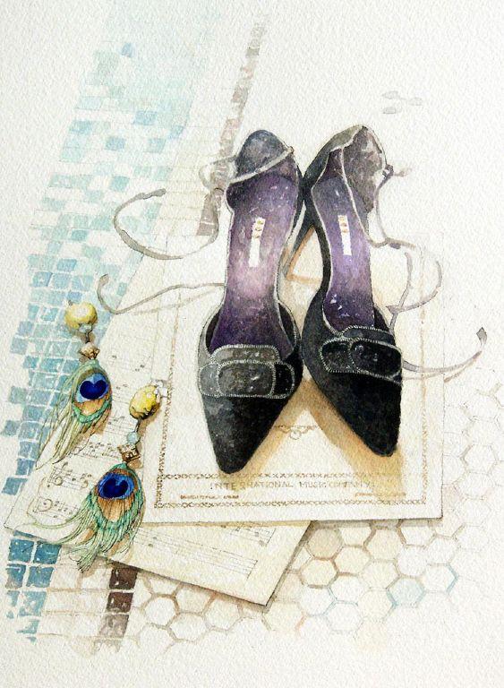 shoes & earings Illustration