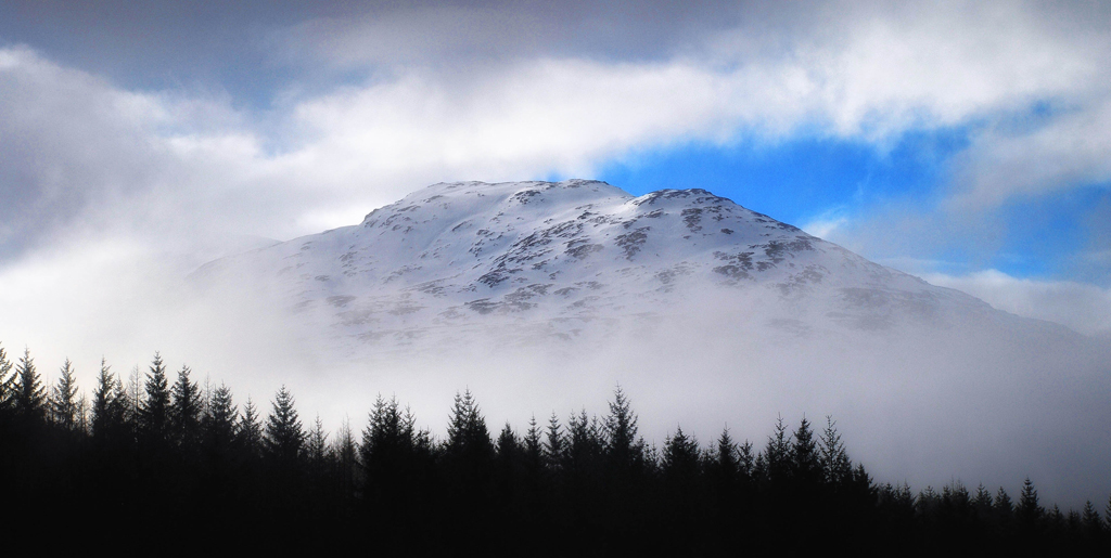 Misty Scottish Mountain