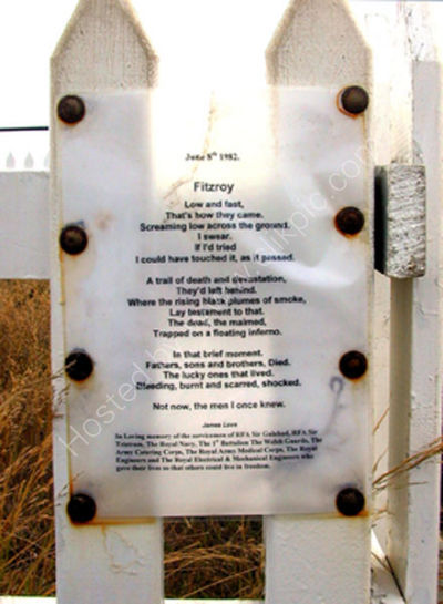 Memorial Fitzroy Poem James Love