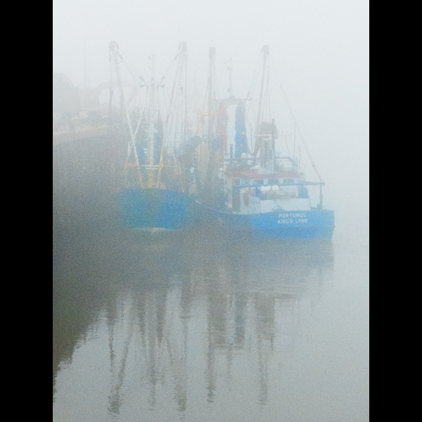 Two Fogbound Boats