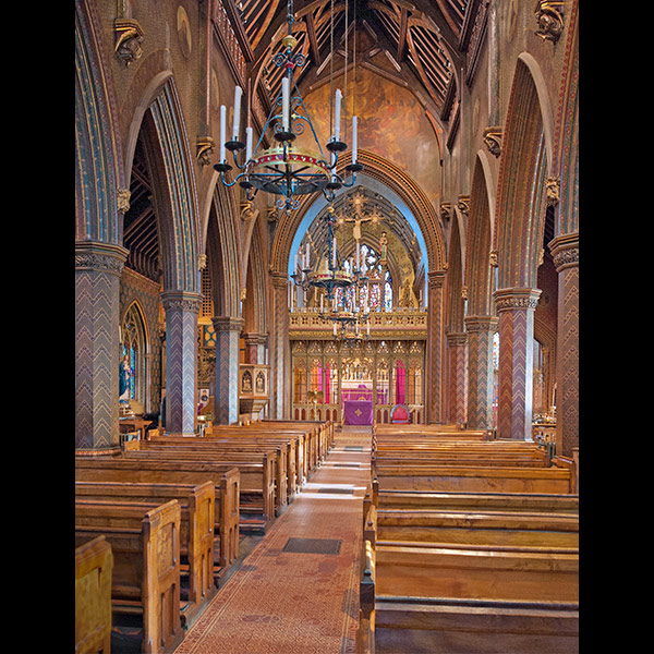 Pugin's Interior, St. Giles RC Church, Cheadle
