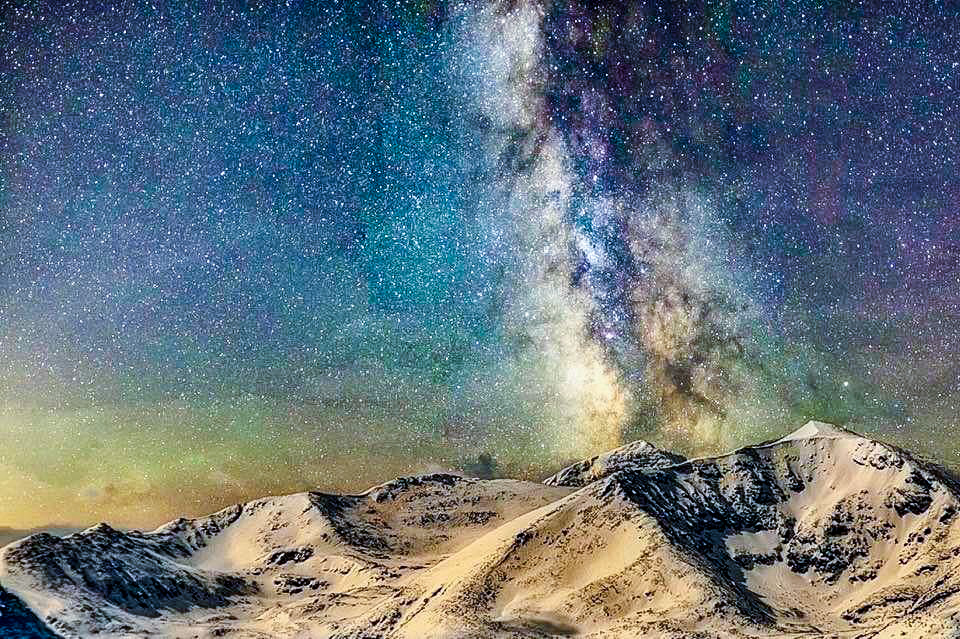 Clear sky Milky Way Balkan mountains Eastern Europe Sadly no coffee shop at top of the world.