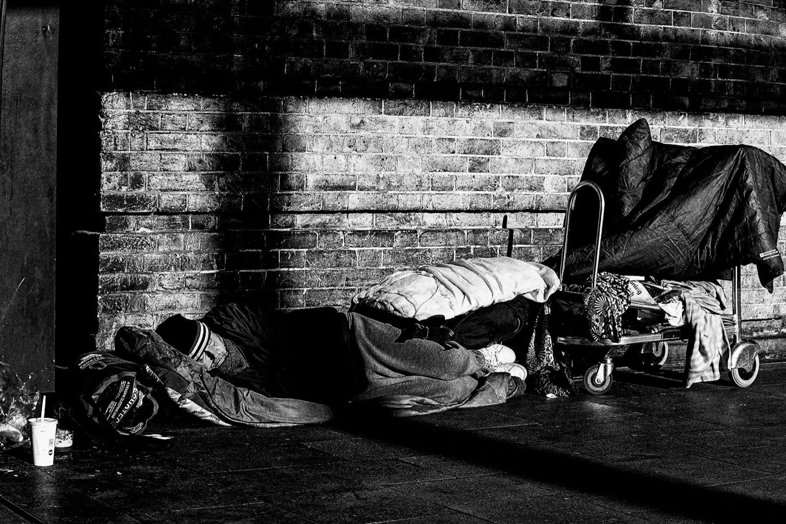 Sleeping on the streets Kings cross London during lockdown