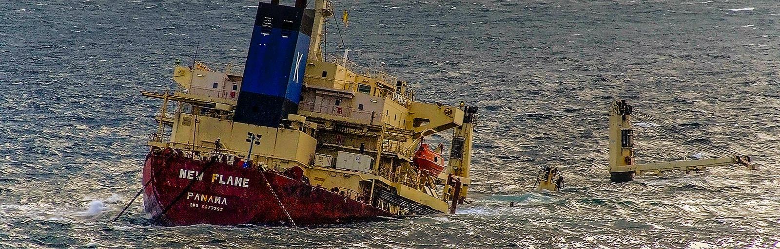 Sinking ship gibralter