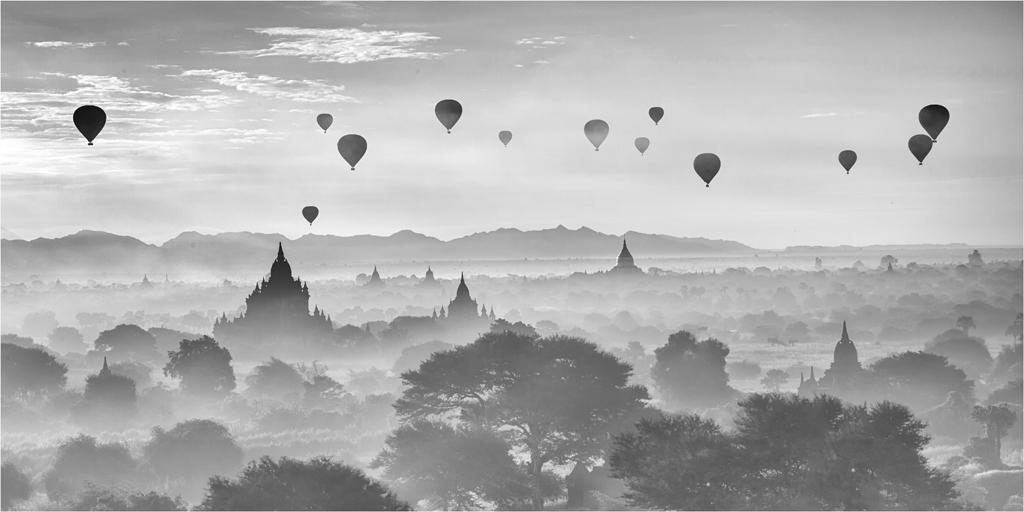 Ballons & Temples Bagan