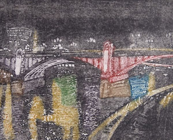 Southwark Bridge, Nightime