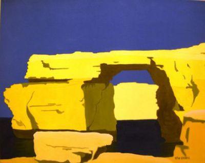 Azure Window yellow-blue