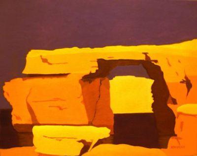 Azure Window, orange-purple