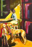 Lady with Greyhounds