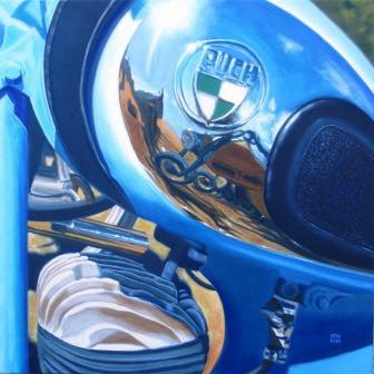 Reflextion in Puch motorbike