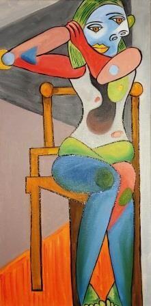 Sitzender Akt à la Picasso