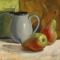 Pears and small jug