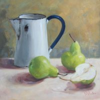 Rustic Jug and pears