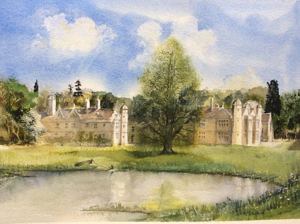 Calendar Front Cover - EXTON HALL, Exton, Rutland. Watercolour by Trevor Brown, reproduced by Kind Permission of the Rt. Hon. The Viscount and Lady Campden