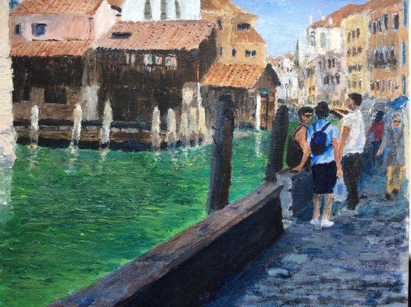 The gondola boatyard of Squero di San Trovaso (17th century) in Venice