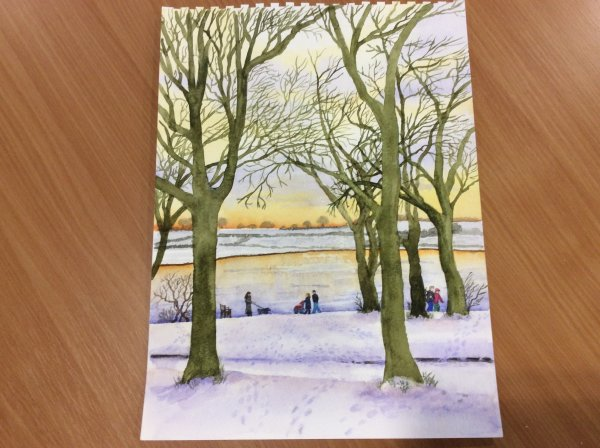 Rutland Water in the snow