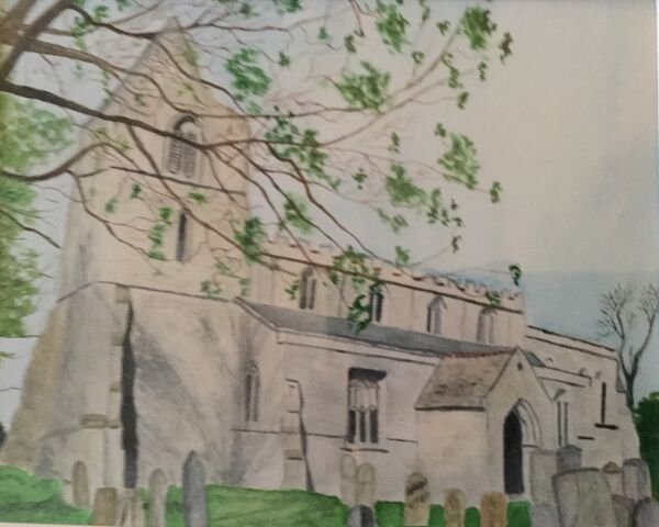 9. Hambleton Church. Barbara Bath.  Watercolour
