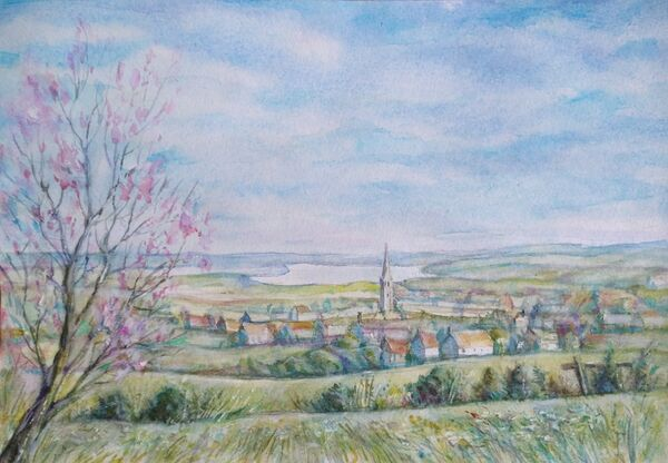 A view of Oakham from Mill Hill