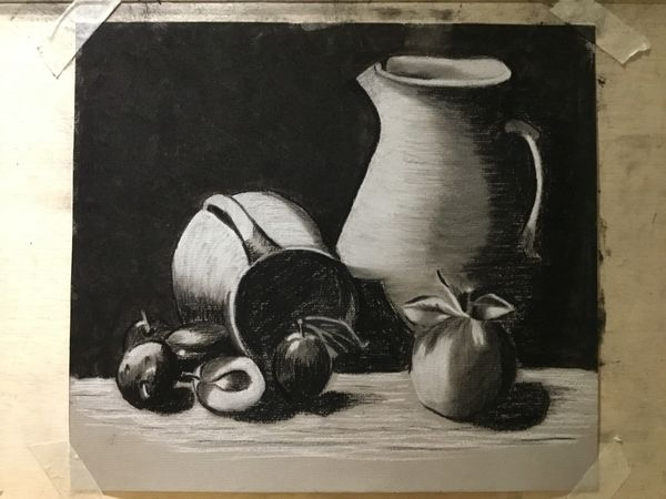 Plums and pots