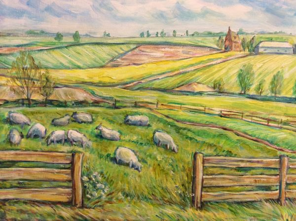 Rutland View with Sheep