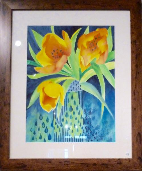 Semi-abstract, Golden Tulips