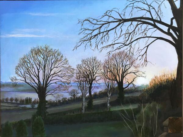 7.. Winter Sunrise, Ridlington. Keith Aldridge. Acrylic
