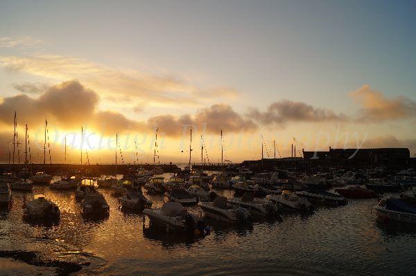 Lyme Regis sunrise on The Cobb